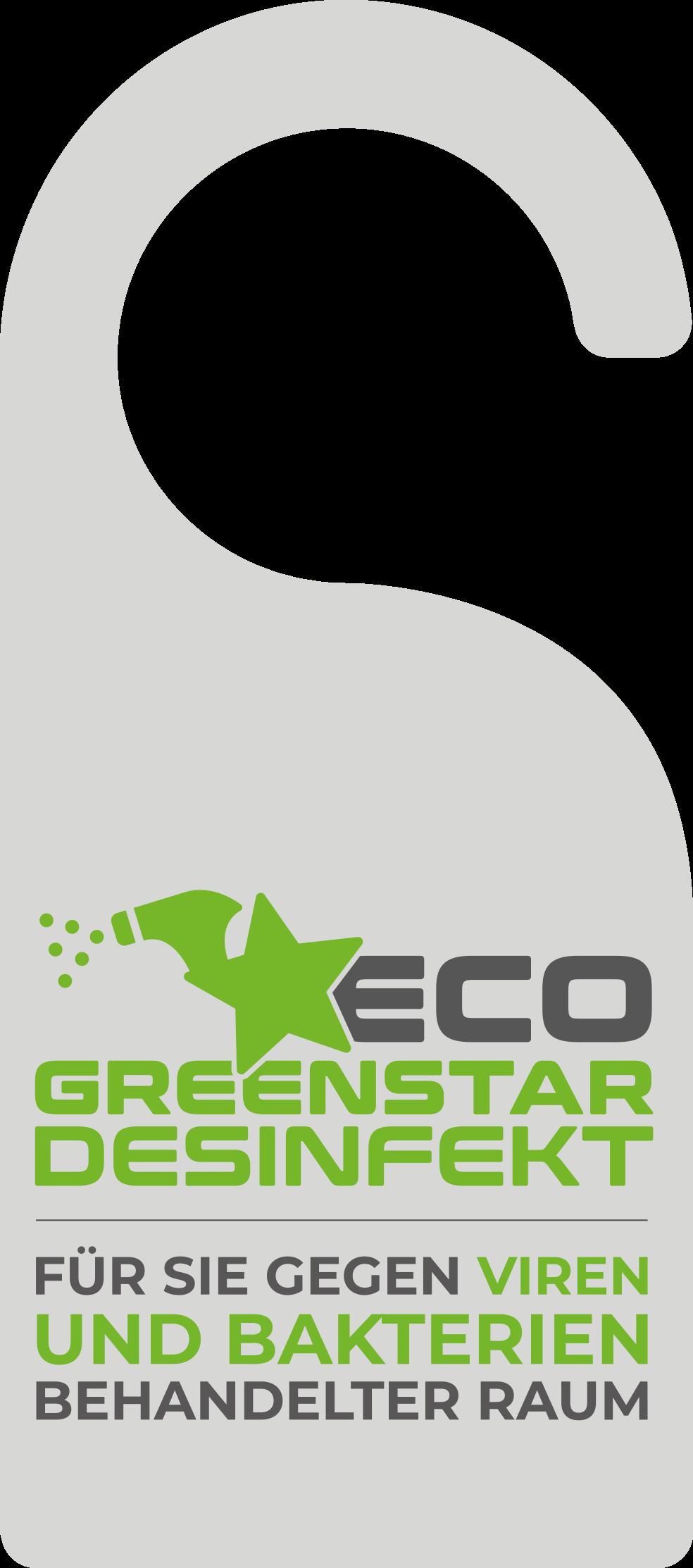 ECO GREENSTAR® DESINFEKT Für Sie gegen Viren und Bakterien behandeltes Hotelzimmer!